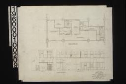 Second floor plan\, elevations and sections of first floor and second floor :Sheet no. 8.
