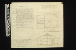 Garage -- plan\, south elevation\, east elevation :Sheet no.1.