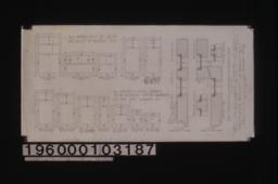 Inch scale and F.S.D. of double hung and casement sash :Sheet no. 22\,
