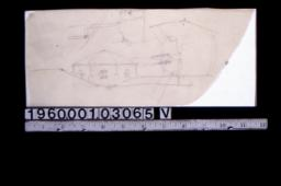 Rough sketch of rounded roof structure\, unidentified sketch (2)