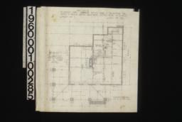 Foundation plan, sections of walls and piers and chimneys :Sheet no 1,