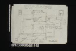 First floor plan; elevations of dining room mantel and living room mantel :Sheet no. 1\,