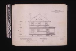 Rear elevation : 6\,