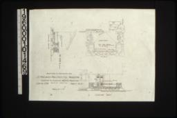 Details of entrance steps in plan and elevations looking south and looking east :Sheet no. 2 / (2)