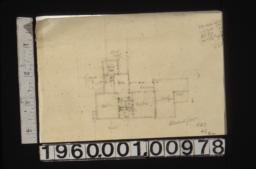 Sketch of second floor plan, scheme #6 R3