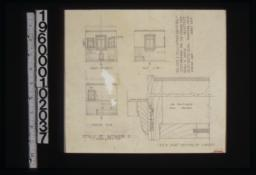 Details of bathroom 2 -- south side\, east side\, north side\, F.S.D. of part section of cabinets :Sheet no. 5. (2)