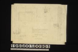 1 inch details of marble facings and hearth in living rm. in elevation\, section and plan; full size details of jamb : Sheet no. 23.