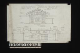 Garage -- west elevation\, north elevation :Sheet no. 4\,
