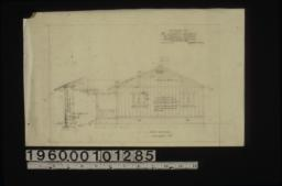 Side elevation with section through wall : Sheet no. 2.