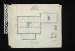 Foundation plan; detail drawings of chimney footings\, wall footings\, pier footings : No. 1.
