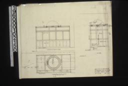 Plan\, section\, elevation of back of window\, unidentified detail sketch :Sheet no. 1.