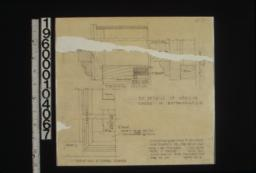 F.S. details of medicine cases in bathrooms 1-2 -- horizontal section\, section thru head\, elevations at lower corner :Sheet no. 13.