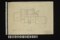 "Cottage ""d"" -- first floor plan : Sheet no. 1."