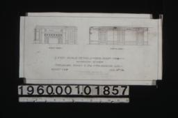 1/4 inch scale details of bedroom no. 8 -- east side\, south side : Sheet no. 8\, (2)