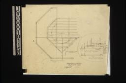 Framing details -- plan of 2nd floor framing on bay in S.E. bedr'm\, detail of truss over sitting r'm bay in elevations and plan :No. 23.