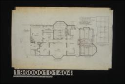 First floor plan\, revised framing plan of living room beams (correct plan) :1.