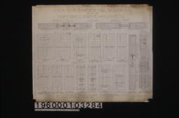 Inch scale and F.S. details of doors :Sheet no. 16\,