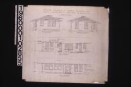 Exterior elevations of office -- south\, north\, west\, east : Sheet no. 2.
