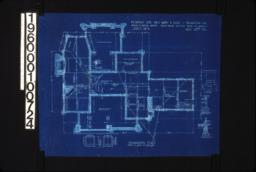 """Foundation plan with detail drawings of section A-A\, chimney footing\, girder post footings\, 1/2"""" scale section thro' wall footings :Sheet No. 1\,"""