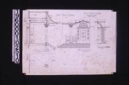Front porch detail -- section\, plan\, front elevation\, half elevation inside :8.