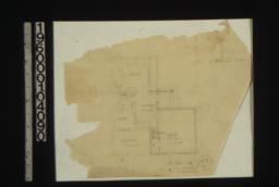 Sketch of plan of 1st floor rear\,