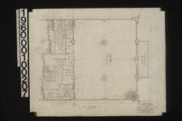 First floor plan with tiling pattern in one corner :Sheet no. 7.