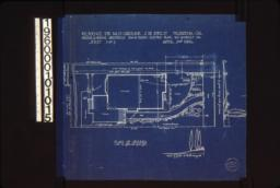 """Plan of grounds, section of grade at """"A""""-""""B"""" looking west, elevatin of grade looking north from house :Sheet no. 1,"""