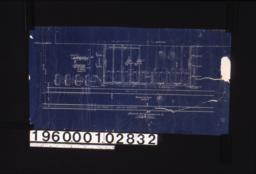 Foundation plan; sect. thro platform at ends of building\, sect. thro' dwarf walls\, sect. thro. end walls :1.