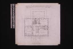 Second floor plan : Sheet no. 3,