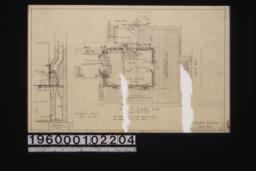 First floor plan; chimney detail in section :Sheet no. 2.