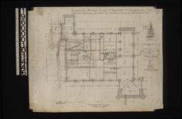 Foundation plan; detail drawings of-- piers\, chimney footing and girder\, posts & footings :1.