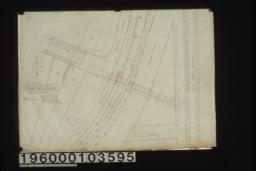Map showing a private road of Oaklawn\, South Pasadena extended southeasterly to Fair Oaks Avenue/