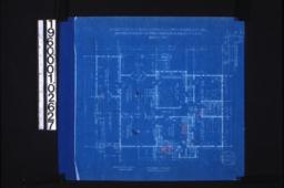 """Main floor plan; 1 1/2"""" detail of corner of bay :Sheet no. 2. (2)"""