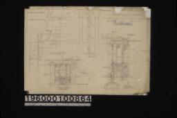 Revised details of lath house -- partial F.S. elevation, partial F.S. section, south elevation, section :Sheet no. 77.