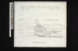 Northwest elevation : Sheet no. 3\,