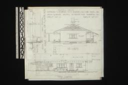 Keeper's house -- west elevation; north elevation; inch scale detail of flower box -- section\, front elevation : Sheet no. 3\,