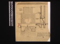 One inch scale details of living room fireplace -- elevation\, section\, plan :9.