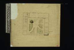 Plan of dwelling at ground floor level\, showing court.