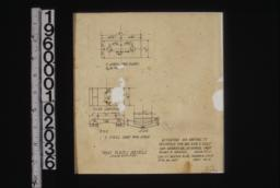 Truss plates details -- 2 steel end plates; end and side views\, plan of 2 steel caps for strut :Sheet no. 4.