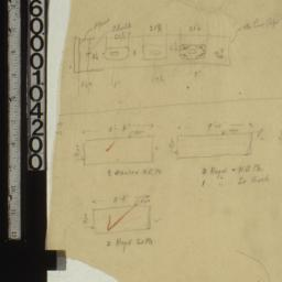[Detail sketches of pipes? ...