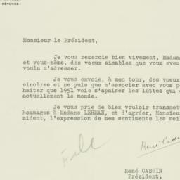 Letter: 1951 January 4