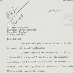 Letter: 1936 July 13