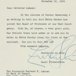 Letter: 1948 November 22