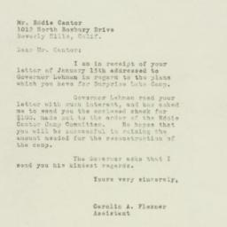 Letter: 1949 January 18