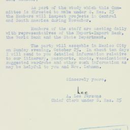 Letter: 1953 August 6