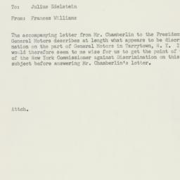 Memorandum: 1955 December 19