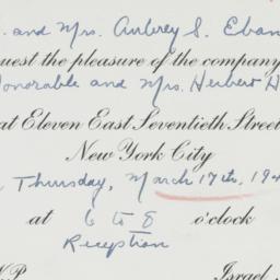 Invitation: 1949 March 17