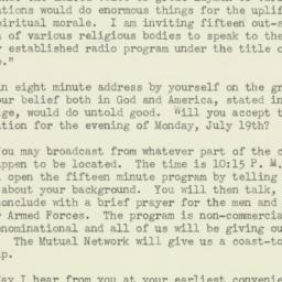 Letter: 1943 May 21