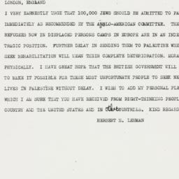 Telegram: 1946 June 20