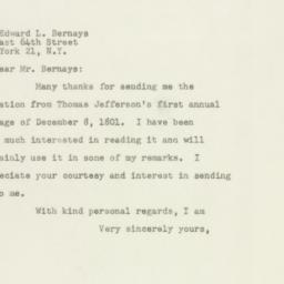 Letter: 1948 November 9